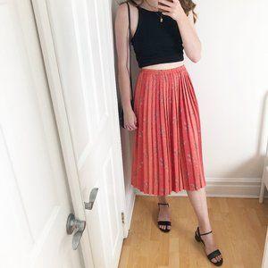 Stunning Vintage High Waisted Pleated Midi Skirt